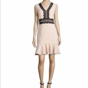 Rebecca Taylor Pink and Black Tweed Dress